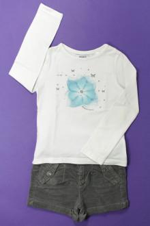 vetements enfants d occasion Ensemble short et tee-shirt Okaïdi 4 ans Okaïdi