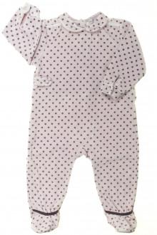 Habits pour bébé occasion Pyjama/Dors-bien à pois en velours DPAM 12 mois DPAM