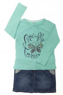 vetements enfants d occasion Ensemble jupe et tee-shirt Vertbaudet 6 ans Vertbaudet
