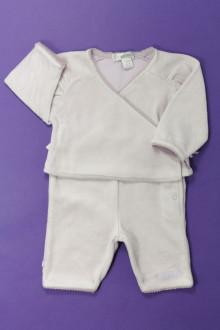 vêtements bébés Ensemble en velours Obaïbi 1 mois Obaïbi