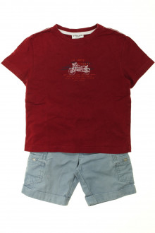 vetement occasion enfants Ensemble bermuda et tee-shirt Cyrillus 3 ans Cyrillus