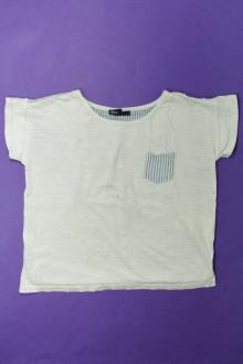 vetement enfants occasion Tee-shirt manches courtes bi-matière Gap 9 ans Gap