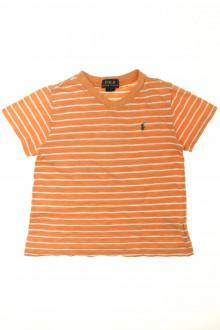 vêtements occasion enfants Tee-shirt rayé manches courtes Ralph Lauren 5 ans Ralph Lauren