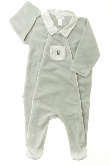 vetement bébé d occasion Pyjama/Dors-bien en velours à col Okaïdi 6 mois Okaïdi