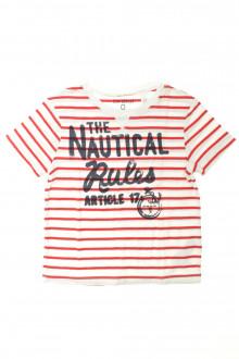vêtements enfants occasion Tee-shirt manches courtes rayé Okaïdi 3 ans Okaïdi
