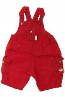 vêtements bébés Salopette courte en lin Berlingot 3 mois Berlingot