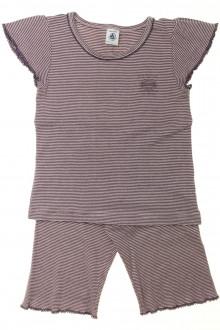 vetement marque occasion Pyjama court milleraies Petit Bateau 6 ans Petit Bateau
