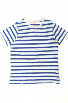 vêtement enfant occasion Tee-shirt manches courtes rayé DPAM 8 ans DPAM