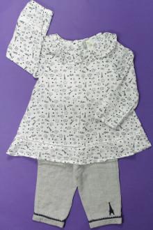 Habit de bébé d'occasion Ensemble blouse et pantalon Orchestra 12 mois Orchestra