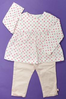 Habits pour bébé Ensemble blouse et pantalon Vertbaudet 18 mois Vertbaudet