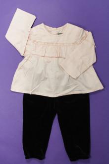 Habits pour bébé occasion Ensemble blouse et bas en velours Vertbaudet 18 mois Vertbaudet