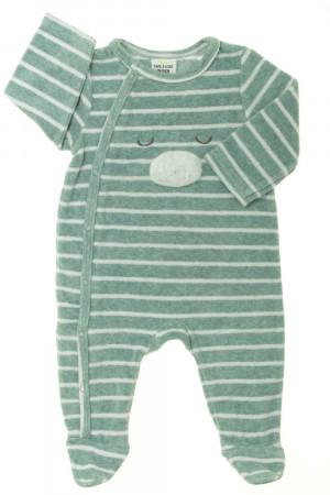 b8ab33616cf0e Pyjama Dors-bien rayé en velours Tape à l œil Garçon 3 mois d ...