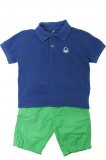 vêtements occasion enfants Ensemble bermuda et polo Benetton 4 ans Benetton