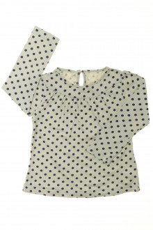 vetement  occasion Tee-shirt manches longues à pois Bout'Chou 3 ans Bout'Chou