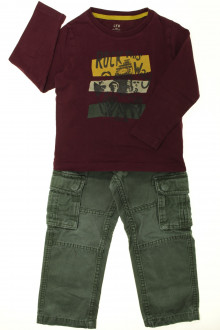 vetements enfants d occasion Ensemble pantalon et tee-shirt CFK 3 ans CFK