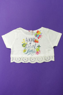 vetement occasion enfants Tee-shirt manches courtes cropped - NEUF DPAM 3 ans DPAM