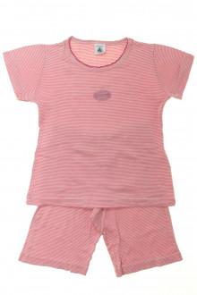 vetement occasion enfants Pyjama court milleraies Petit Bateau 6 ans Petit Bateau