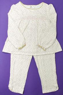 vetements enfant occasion Pyjama en coton fleuri Cyrillus 6 ans Cyrillus
