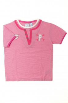 vetement occasion enfants Tee-shirt manches courtes milleraies Okaïdi 6 ans Okaïdi
