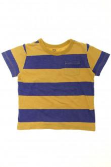 vêtements occasion enfants Tee-shirt manches courtes à rayures CFK 5 ans CFK