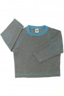 vetement d'occasion Tee-shirt manches longues milleraies Petit Bateau 3 ans Petit Bateau