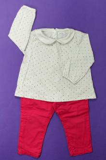 habits bébé Ensemble pantalon et tee-shirt Bout'Chou 12 mois Bout'Chou