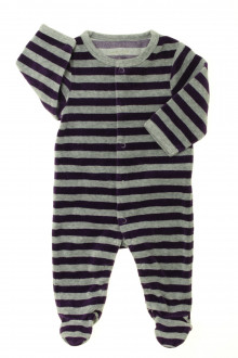 vêtements bébés Pyjama/Dors-bien rayé en velours Vertbaudet 3 mois Vertbaudet
