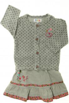 habits bébé occasion Ensemble robe et gilet La Compagnie des Petits 6 mois La Compagnie des Petits