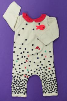 habits bébé occasion Combinaison à pois DPAM 6 mois DPAM