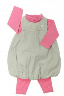 habits bébé occasion Ensemble robe, sous-pull et legging Obaïbi 6 mois Obaïbi