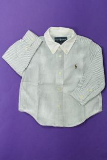 habits bébé Chemise à fines rayures Ralph Lauren 18 mois Ralph Lauren