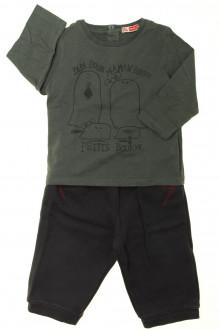 Habits pour bébé Ensemble pantalon et tee-shirt DPAM 12 mois DPAM