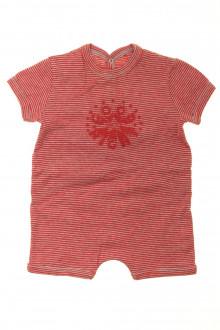 Habit de bébé d'occasion Combishort milleraies Petit Bateau 3 mois Petit Bateau