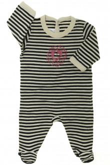 Habits pour bébé occasion Pyjama/Dors-bien rayé en coton Petit Bateau 1 mois Petit Bateau