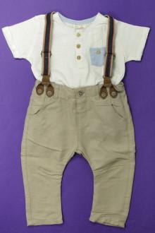 vêtements bébés Ensemble pantalon et tee-shirt Zara 9 mois Zara