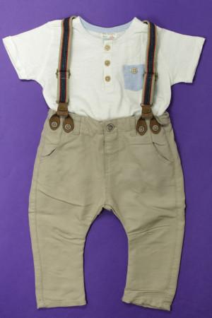 f139020880674 Ensemble pantalon et tee-shirt Zara Garçon 9 mois d'occasion sur ...