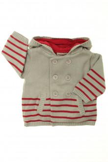 vetements d occasion bébé Gilet/veste rayé Natalys 6 mois Natalys