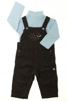 vêtements bébés Ensemble salopette et sous-pull DPAM 12 mois DPAM