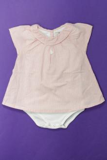 Habit d'occasion pour bébé Blouse body intégré Cyrillus 18 mois Cyrillus