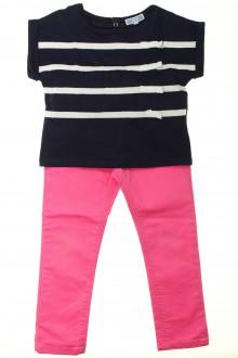 vetements enfants d occasion Ensemble jean de couleur et tee-shirt Jacadi 4 ans Jacadi