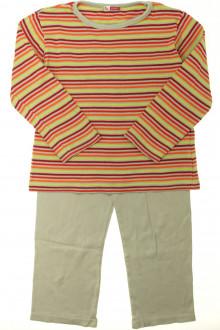 vetement occasion enfants Pyjama en coton rayé DPAM 6 ans DPAM