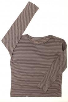 vêtements enfants occasion Tee-shirt manches longues rayé Monoprix 10 ans Monoprix