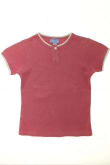 vetement marque occasion Tee-shirt manches courtes gansé Cyrillus 10 ans Cyrillus