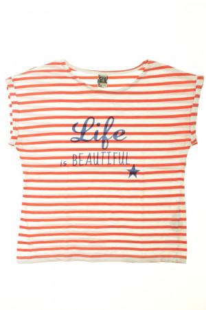 22d4cca161ddb Tee-shirt manches courtes rayé Tape à l œil Fille 10 ans d occasion ...