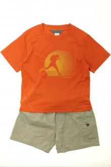 vetement occasion enfants Ensemble short et tee-shirt Décathlon 4 ans Décathlon
