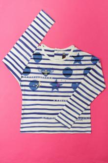 vêtements enfants occasion Tee-shirt manches longues rayé Catimini 6 ans Catimini