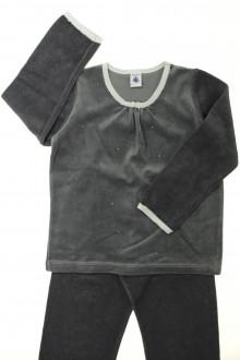 vetement occasion enfants Pyjama en velours et éponge Petit Bateau 6 ans Petit Bateau