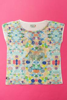 vetement occasion enfants Tee-shirt manches courtes à pois Chipie 5 ans Chipie