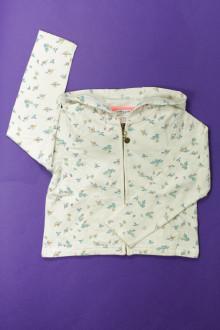 vêtements enfants occasion Sweat zippé fleuri Cyrillus 6 ans Cyrillus