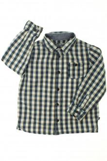 vetement d occasion enfant Chemise à carreaux Okaïdi 4 ans Okaïdi